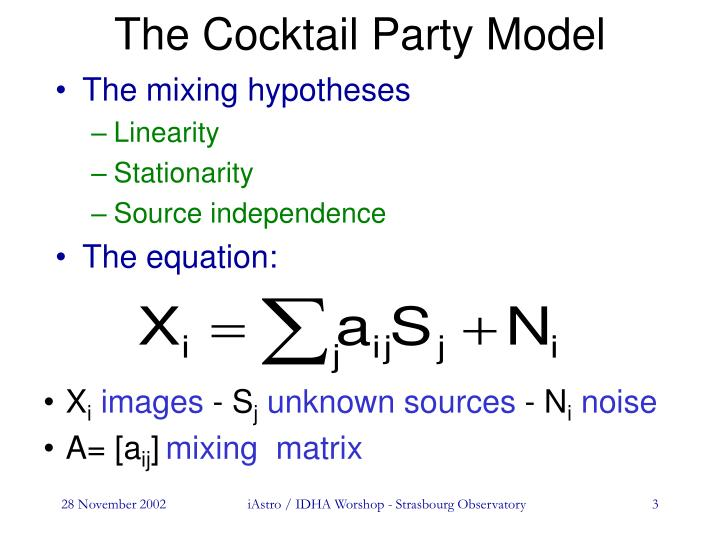 The cocktail party model