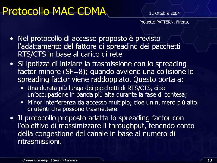 Protocollo MAC CDMA