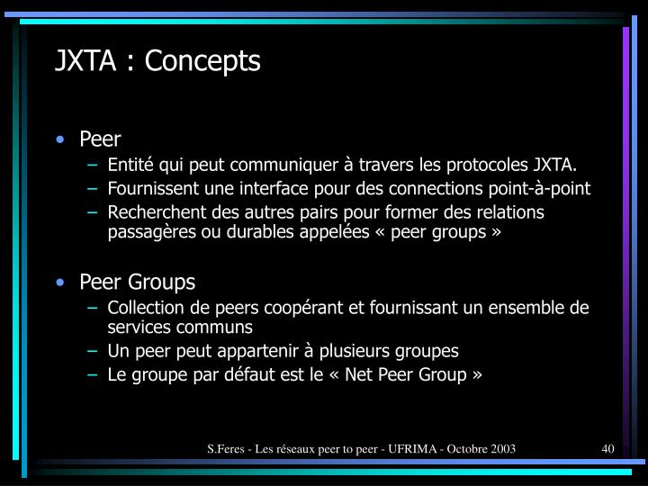JXTA : Concepts