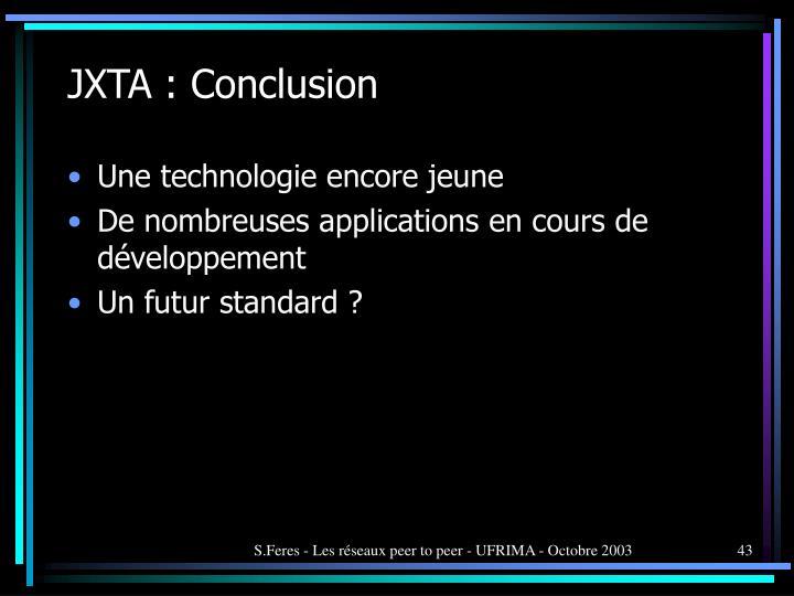 JXTA : Conclusion