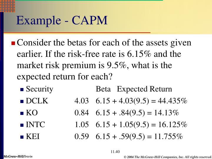 Example - CAPM