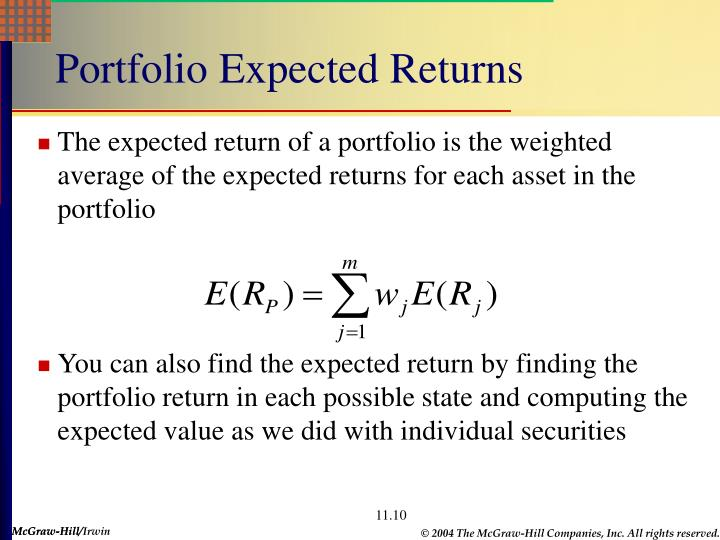 Portfolio Expected Returns