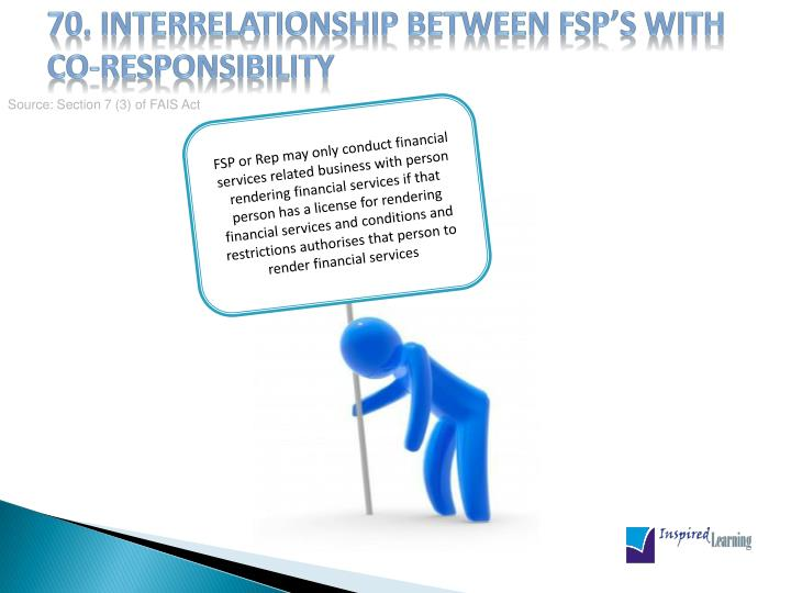 70. Interrelationship between FSP's with co-responsibility