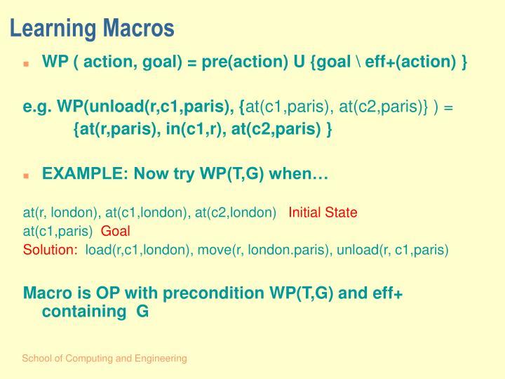 Learning Macros