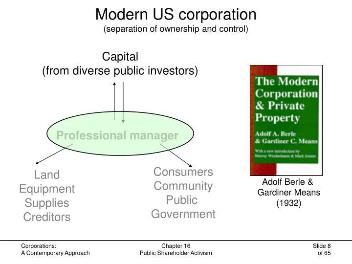 Modern US corporation