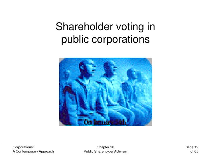 Shareholder voting in