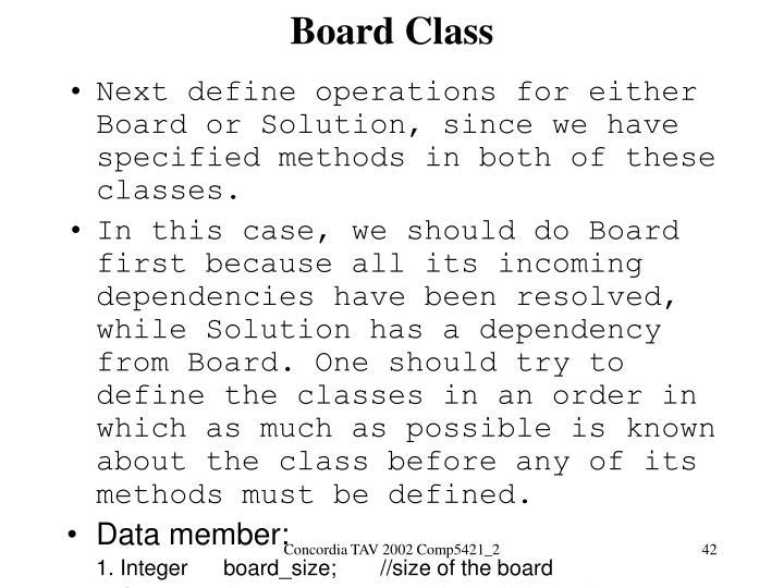 Board Class