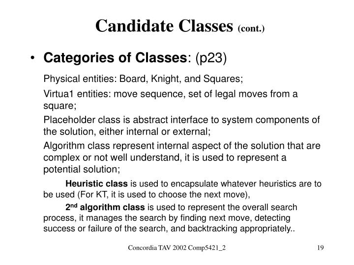 Candidate Classes