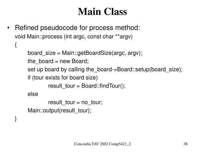 Main Class