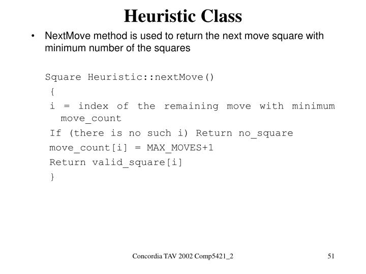 Heuristic Class
