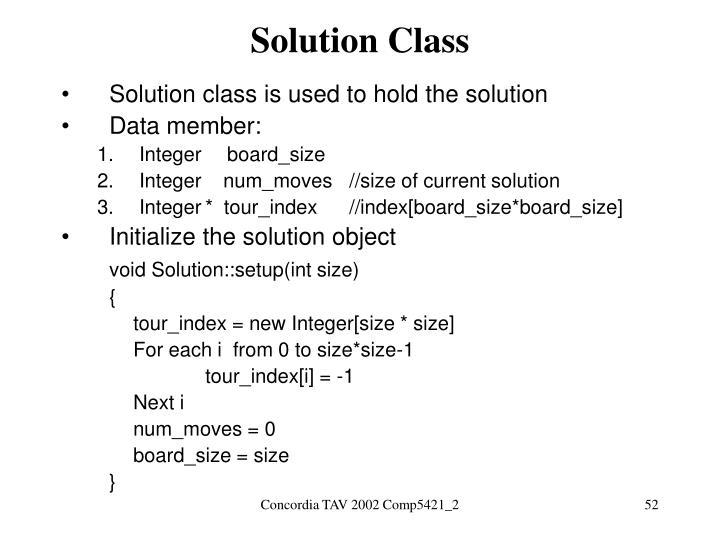Solution Class