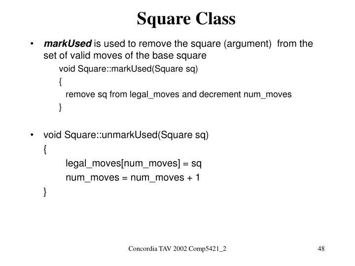 Square Class