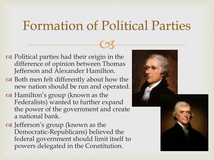 Formation of Political Parties