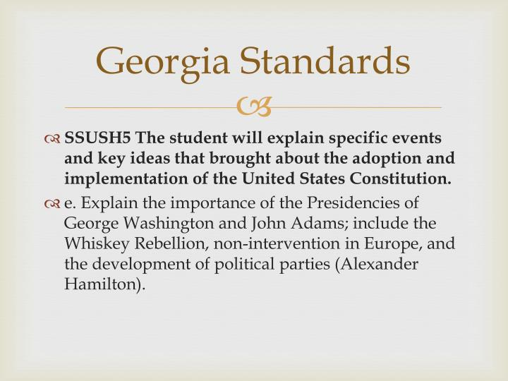 Georgia Standards