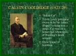 calvin cooldidge 1923 29
