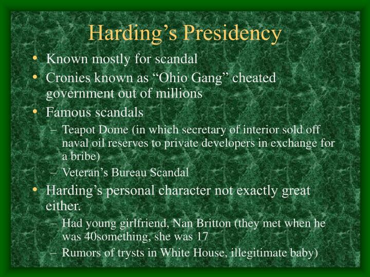 Harding's Presidency