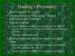 harding s presidency