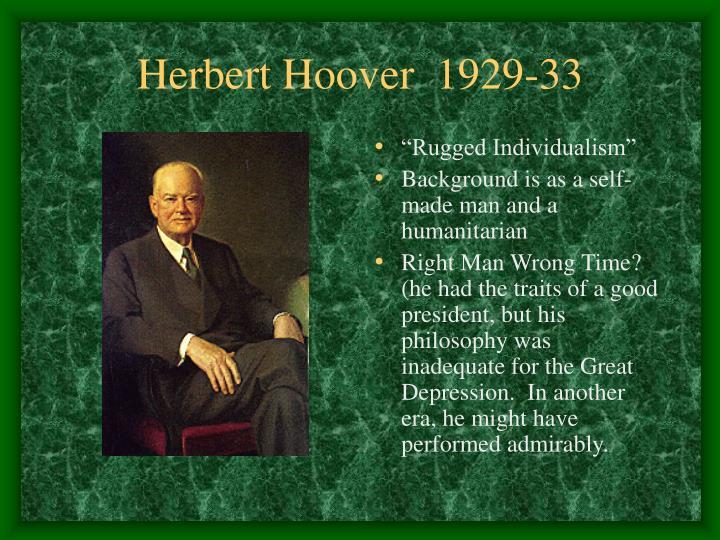 Herbert Hoover  1929-33