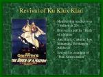 revival of ku klux klan