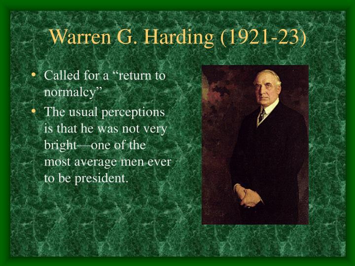 Warren G. Harding (1921-23)