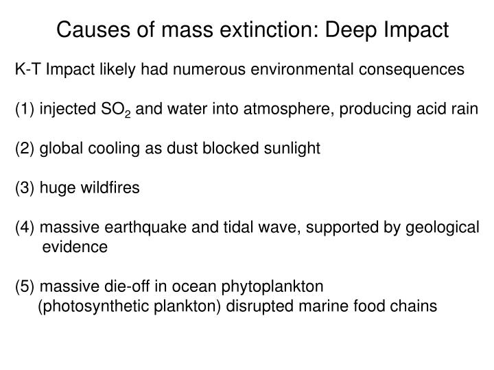 Causes of mass extinction: Deep Impact