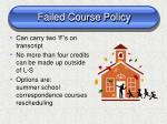 failed course policy