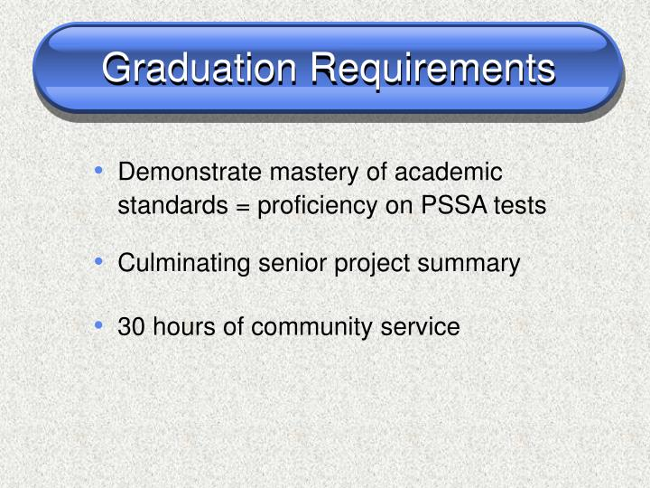 Graduation requirements1