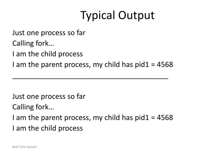 Typical Output