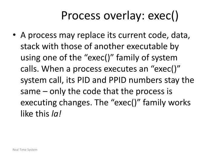 Process overlay: exec()