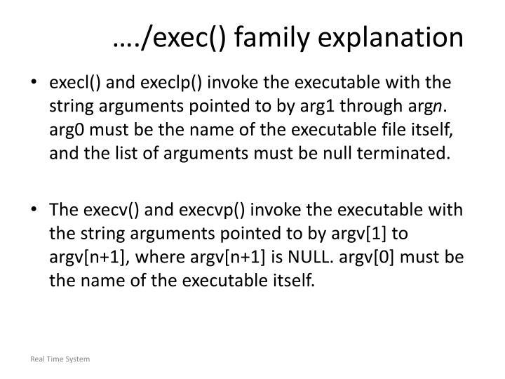…./exec() family explanation