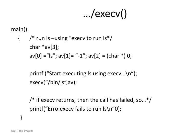 …/execv()