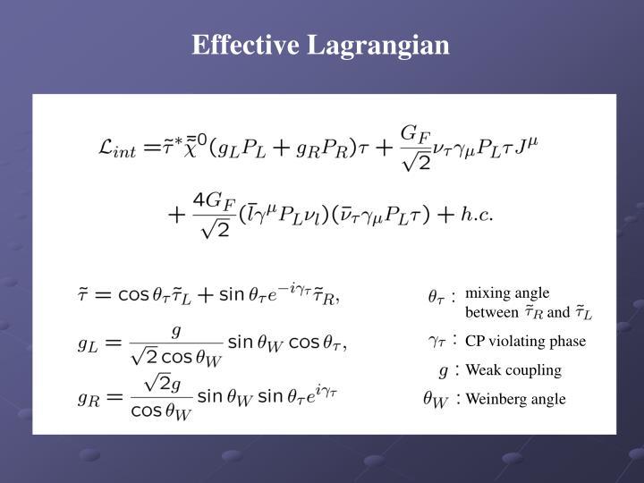 Effective Lagrangian