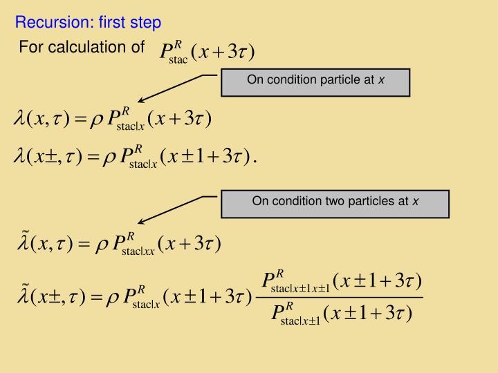 Recursion: first step