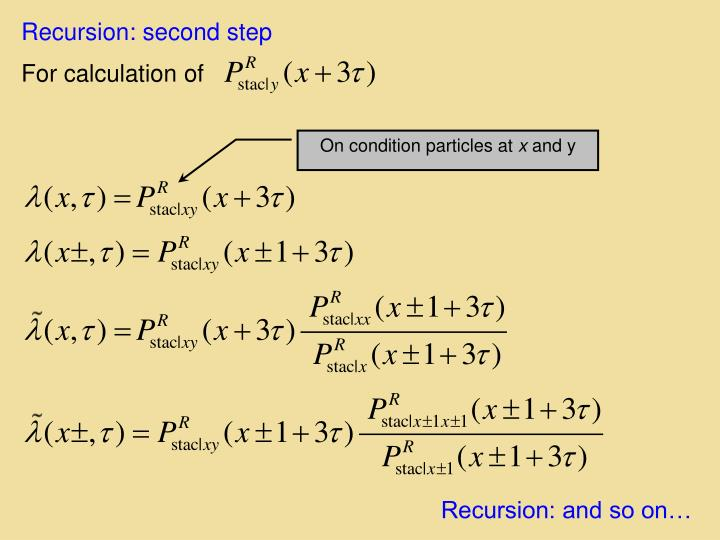 Recursion: second step
