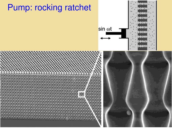 Pump: rocking ratchet