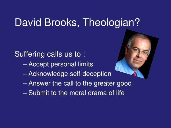 David Brooks, Theologian?