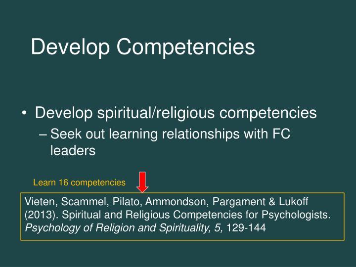 Develop Competencies