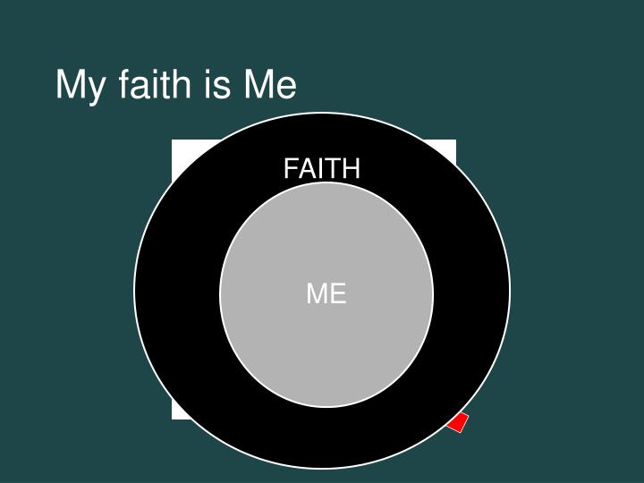 My faith is Me