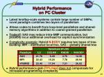 hybrid performance on pc cluster