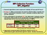 mpi collective function mpi allgather