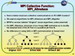 mpi collective function mpi allreduce