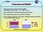 performance of n body
