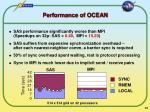 performance of ocean