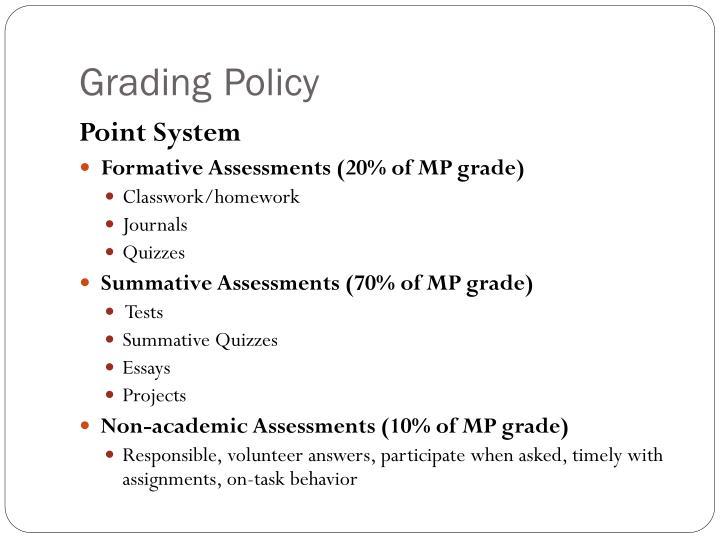 GradingPolicy
