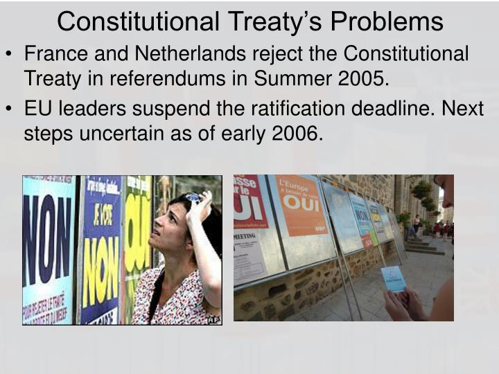 Constitutional Treaty's Problems