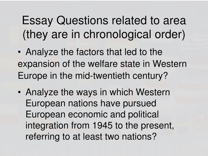 Essay Questions related to area (they are in chronological order)