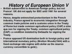 history of european union v