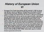 history of european union vi