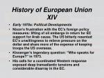 history of european union xiv
