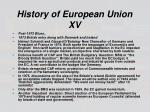 history of european union xv